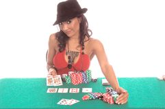 Sexy Poker Player Royalty Free Stock Photo