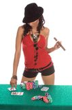 Sexy Poker Player Royalty Free Stock Photos
