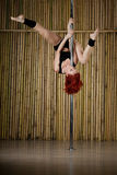 Sexy pole dance woman. Stock Images