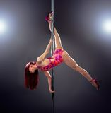 Sexy pole dance woman. Stock Photo