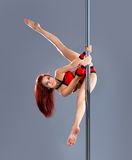 Sexy pole dance woman. Royalty Free Stock Photo