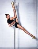 Sexy pole dance woman Royalty Free Stock Photo