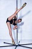Sexy pole dance woman Stock Image
