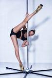 Sexy pole dance woman Stock Image