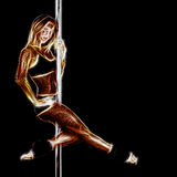 Sexy pole dancer artwork Stock Photo