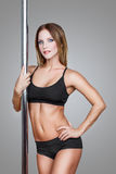 Sexy pole dancer Royalty Free Stock Photo
