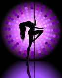 Sexy pole dancing Royalty Free Stock Photo