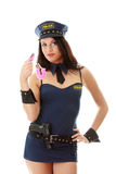 Sexy police girl Stock Photo