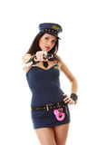 Sexy police girl Royalty Free Stock Photography