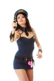 Sexy police girl Royalty Free Stock Images