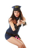 Sexy police girl Stock Photos