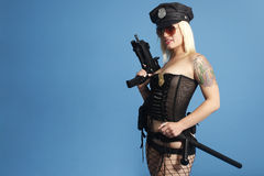 Sexy police officer Stock Photos
