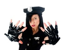 Sexy police woman Royalty Free Stock Photo