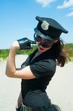 Sexy police woman Stock Photography