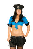 Sexy policewoman Stock Image