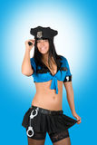 Sexy policewoman Stock Images