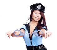 Sexy policewoman Stock Photos