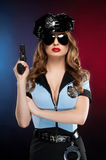 Sexy policewoman. Royalty Free Stock Photo