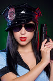 Sexy policewoman. Stock Images