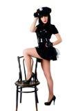 Sexy politievrouw Stock Foto