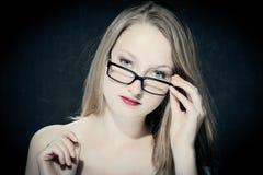 portrait of a blonde teacher Royalty Free Stock Photos