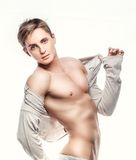 Portrait. Of a young muscular male mode Royalty Free Stock Images