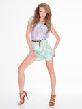 Sexy Pose modelo bonito joven magnífico Foto de archivo libre de regalías