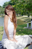 and pretty of young woman Stock Images