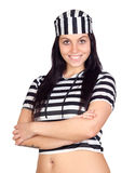 Sexy prisoner smiling Royalty Free Stock Images