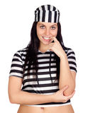 Sexy prisoner smiling Stock Image