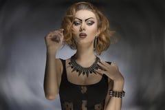 Sexy punk fashion girl Stock Photos