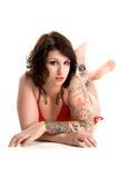 punk girl in bikini Royalty Free Stock Image