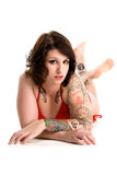 Sexy punkmeisje in bikini Royalty-vrije Stock Afbeelding