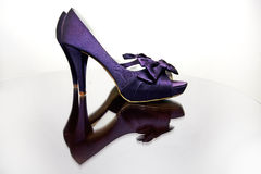 Sexy Purple Shoes. A pair of sexy high heeled shoes in purple Stock Photos