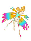 Sexy rainbow fairy Stock Image