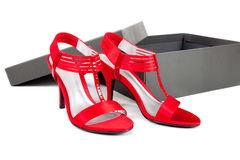 Sexy, Red Dress Shoes On A White Background Stock Photo