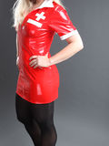 Sexy Red Fetish Dress Stock Images