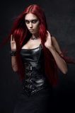 red haired woman Stock Image