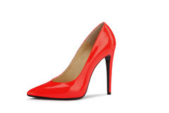 Sexy Red high heeled shoes Royalty Free Stock Photography