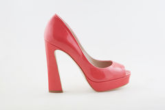 Sexy Red high heeled shoes Stock Photos