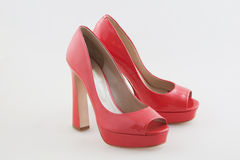 Sexy Red high heeled shoes Royalty Free Stock Photos