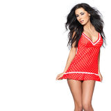 Sexy in Red Lingerie Royalty Free Stock Photo