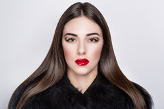 Sexy red lips Stock Images