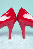Sexy Red Pumps Stock Photography
