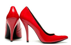 Sexy red shoes Stock Images