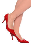 Sexy red shoes Stock Photography