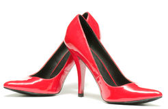 Sexy red shoes isolated Royalty Free Stock Photos