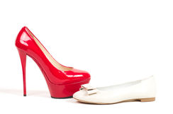 Sexy red shoes isolated Stock Image