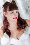Redhead pinup girl Royalty Free Stock Image