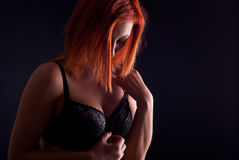 Sexy redhead Royalty Free Stock Photography